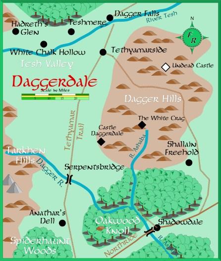 Mapa da região do Vale da Adaga